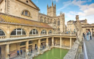 Bath's ancient Roman baths, now a museum. Photo by Dominic Arizona Bonuccelli, Rick Steves' Europe. Highlights of Bath, England Image