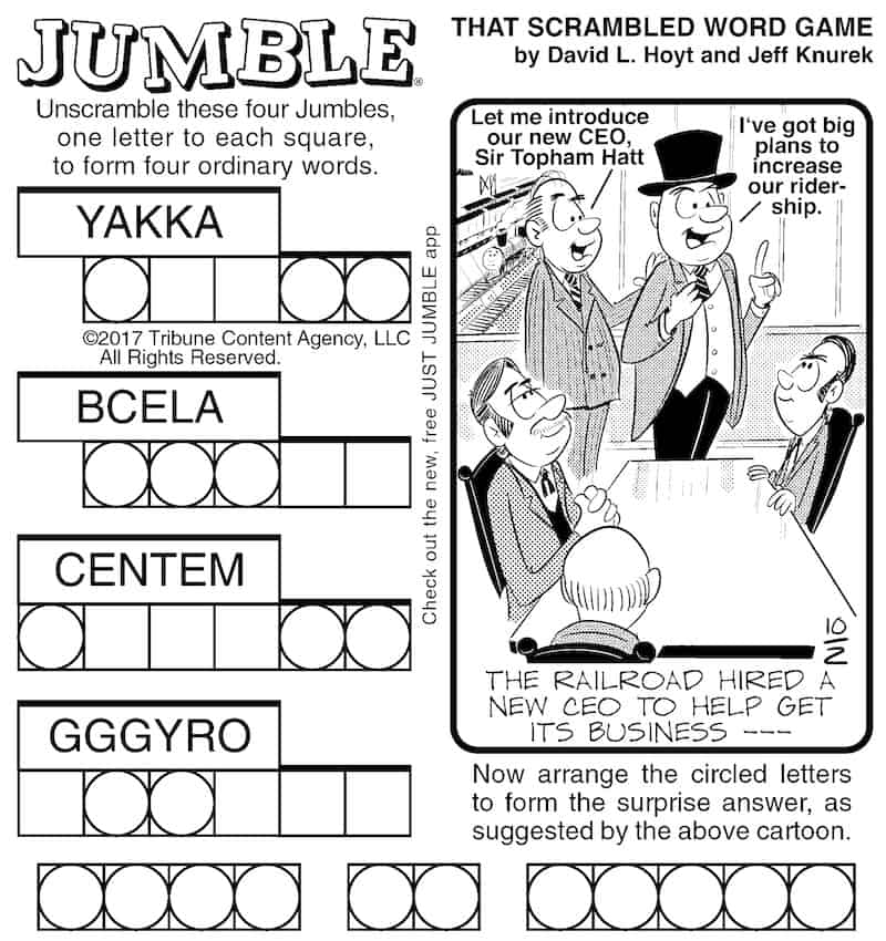 Jumble puzzle to challenge your mind