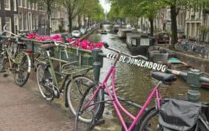 Bikes, Rick Steves' preferred transport through Amsterdam. For Sightseeing and Biking through Amsterdam. Credit: Dominic Arizona Bonuccelli, Rick Steves' Europe Image