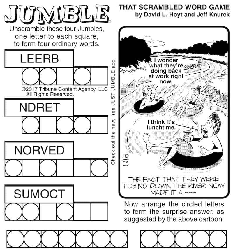 Take the Jumble puzzle challenge