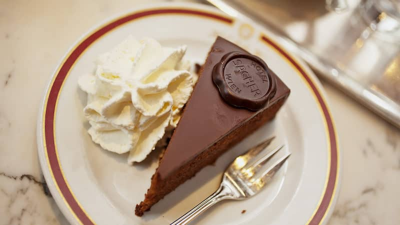 The delicious renowned Sacher torte of Vienna, for Rick Steves' Sacher torte and opera in Vienna Image