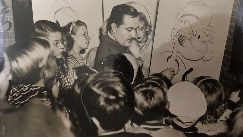 Bela Zaboly's drawing session with children. Photo courtesy of Jonathan Lozovsky. In an early history of Popeye the sailor man Image