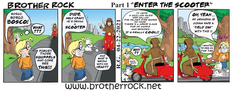 Brother Rock Gets a Scooter