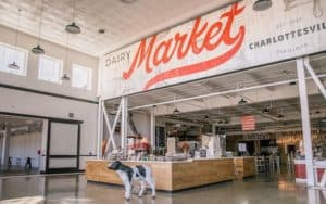 Welcome to the Dairy Market food hall in Charlottesville; photo credit, Robinson Imagery x Do Me A Flavor Image