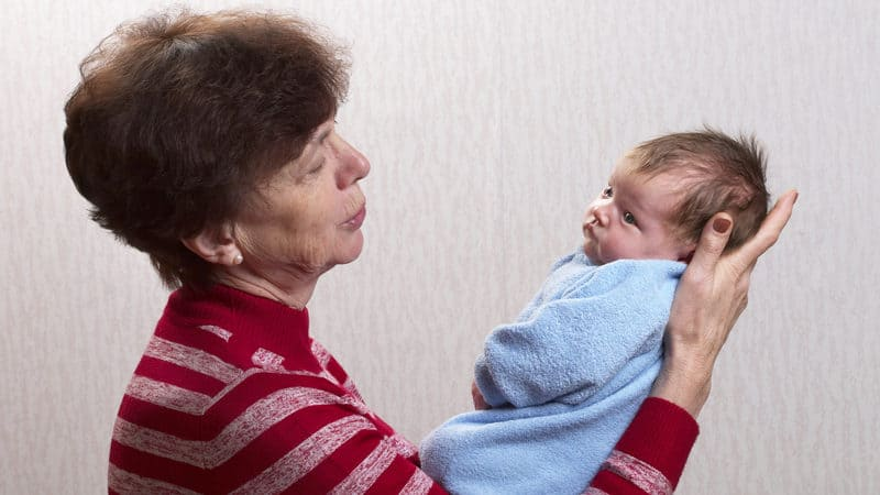 Irritated grandma wants more time with baby Image