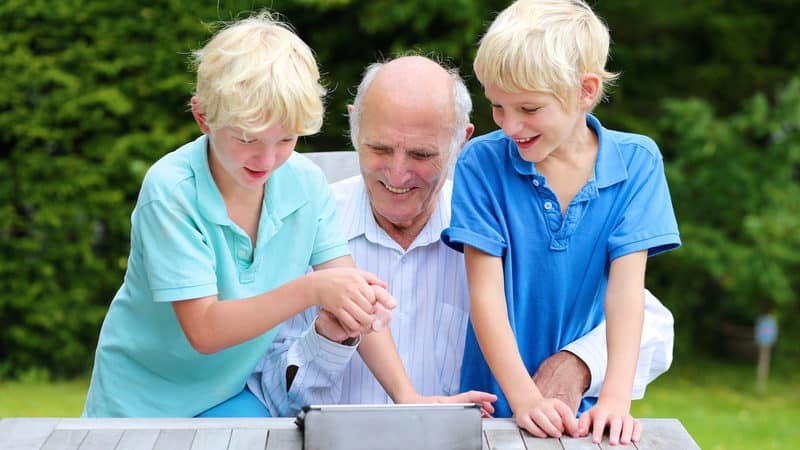 Grandpa and grandsons Image