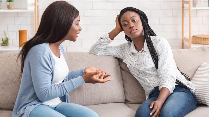 Talkative woman gets into monologues Image