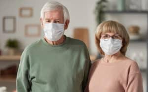 Unvaccinated senior couple Image