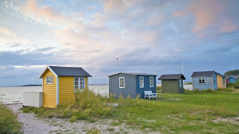 Beach bungalows at Ærøskøbing. CREDIT: Dominic Arizona Bonuccelli, Rick Steves' Europe. Image
