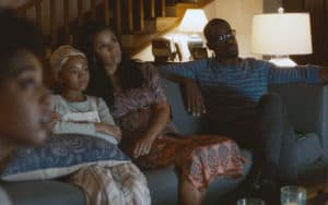 """Eris Baker, front left, Faith C. Herman, Susan Kelechi Watson, and Sterling K. Brown in the season five premiere of """"This Is Us."""" CREDIT: NBC/TNS. For 'TV Series Tackling Racial Issues' Image"""