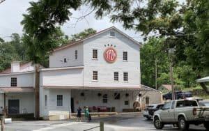 Exterior shot of the new Camp Trapezium brewpub in Amherst, Virginia Image