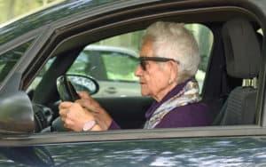 Elder mom behind the wheel Image