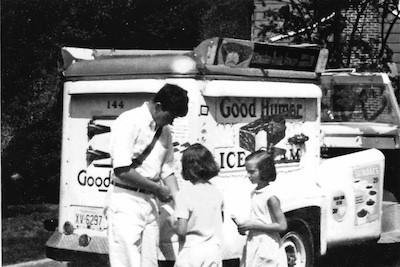 Good Humor ice cream truck and vendor, 1966. Image from GRUBBXDN, via Wikimedia Commons