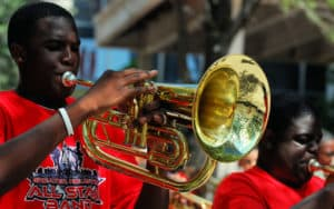 Juneteenth parade and food trucks Image