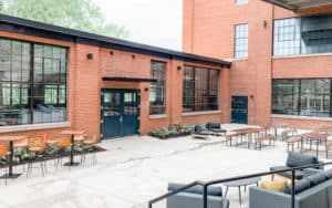Courtyard outside of Selvedge Brewing at The Wool Factory Image