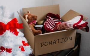 Christmas donation box Image