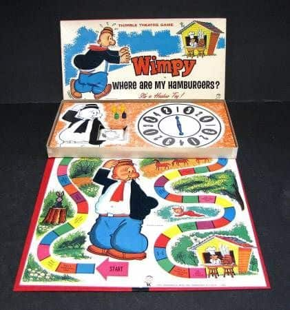 Wimpy starred in the boardgame, Where Are My Hamburgers by Habsro (1965)