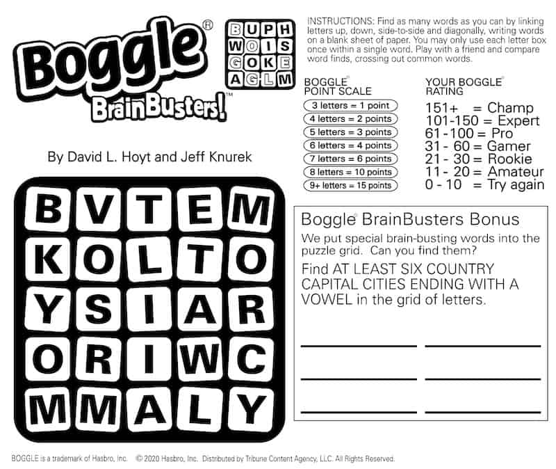Boggle BrainBusters Puzzle - Exercise Your Mind with Boggle