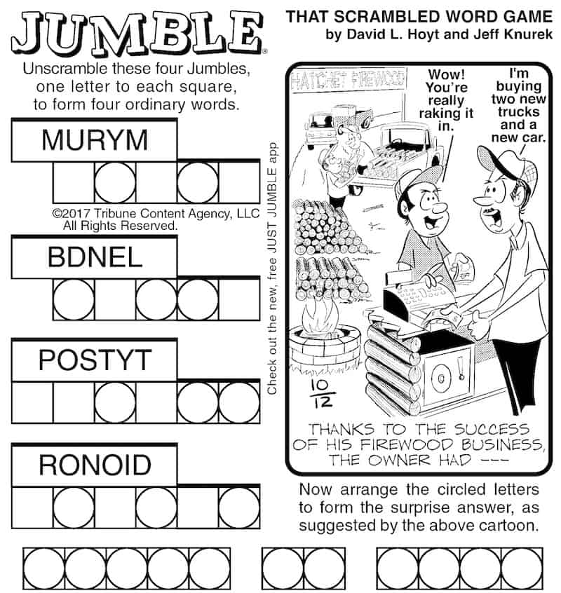 Brain-building Fun with Jumble for Adults