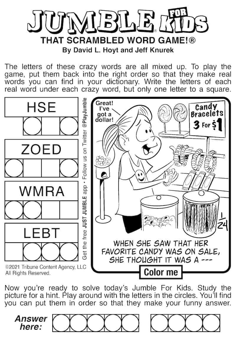 Brain-building Fun with Jumble for Kids and Adults