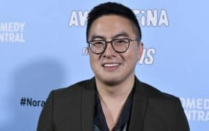 """Bowen Yang attends Comedy Central's """"Awkwafina Is Nora from Queens"""" premiere party at Valentine DTLA on Jan. 15, 2020, in Los Angeles. CREDIT: Frazer Harrison/Getty Images for Comedy Central/TNS). For article, Bowen Yang and the iceberg sketch win big Image"""