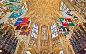 priceless Westminster Abbey artifacts - looking up at the towering, grand interior Image
