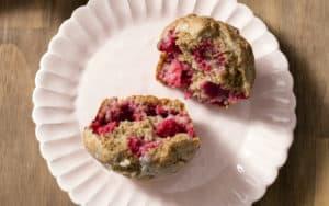 Whole wheat raspberry muffins Image