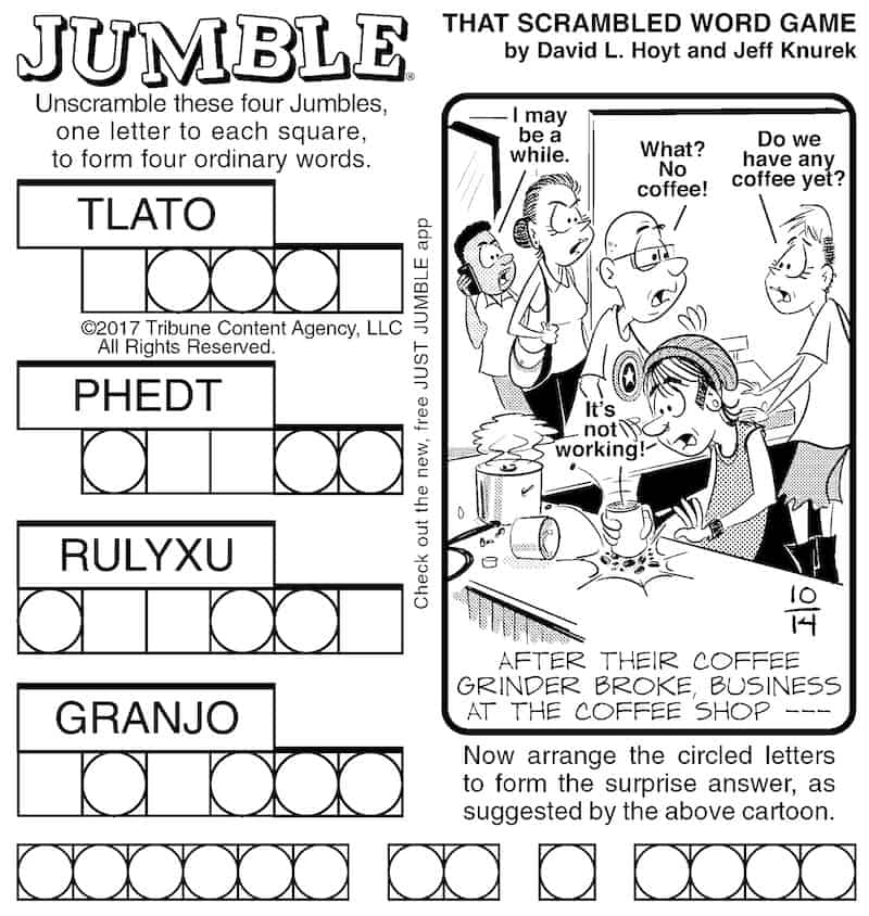 Classic Jumble puzzle for older children and adults