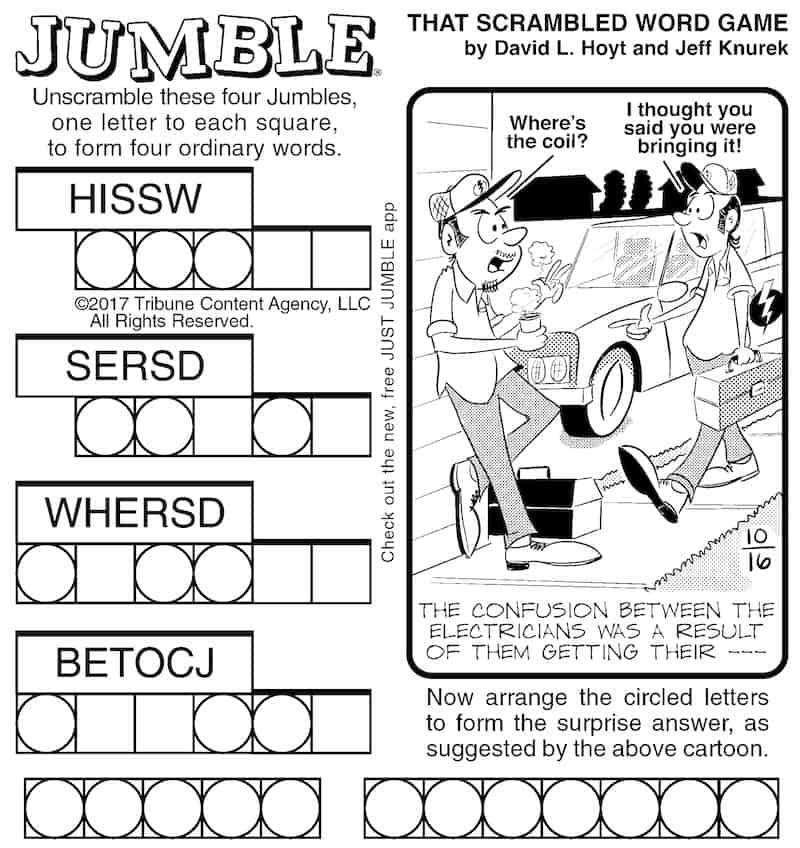 Classic Jumble for adults