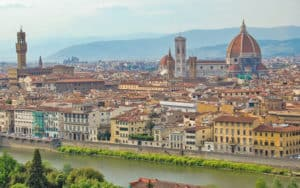 The cathedral's sublime dome dominates the Florence skyline. For article on Florence's Many Classical Masterpieces Image