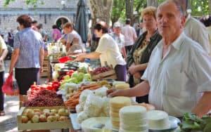 Farmers market in Nevesinje, Bosnia-Herzegovina. Traveling the backroads of Bosnia-Herzegovina Image