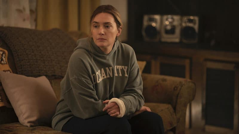 """HBO Max was boosted by HBO's """"Mare of Easttown,"""" starring Kate Winslet. CREDIT: Michele K. Short/HBO/TNS). Filming 'Mare of Easttown' on HBO Image"""