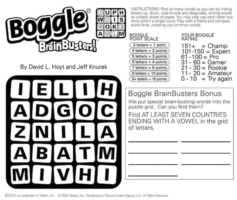 Mental Calisthenics with Boggle