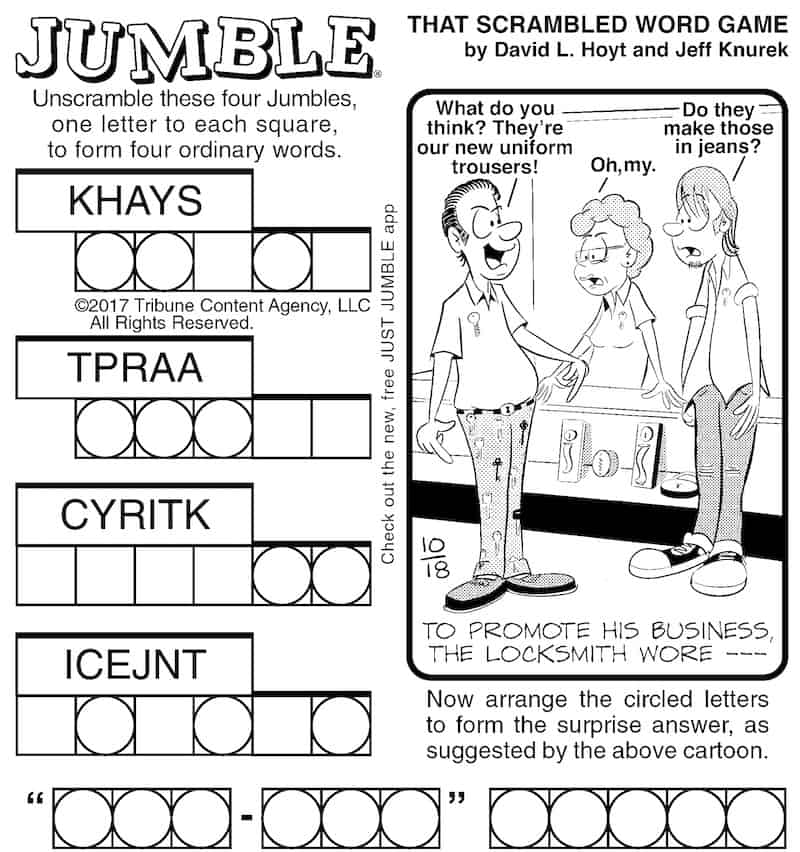 Classic Jumble puzzle