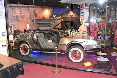 Part of the Back to the Future exhibit - provided by the Hollywood Museum. For article on Claudia Wells, the first Jennifer in 'Back to the Future'