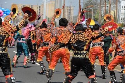 Carnaval de Oruro Parade, 2014. Photograph by Lloyd Wolf