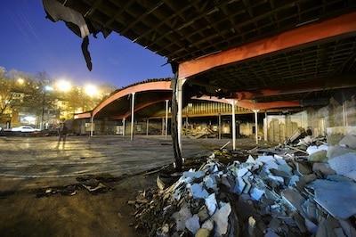 Demolition of the old Arlington Mill Community Center (self-portrait), 2011. Photograph by Dewey Tron