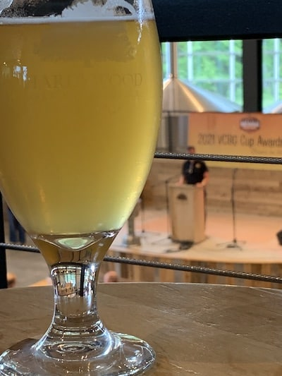 Hardywood Singel at the 2021 Virginia Craft Beer Cup awards