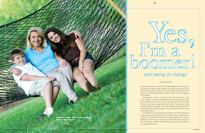 Lisa Schaffner Boomer article Oct Nov 2008