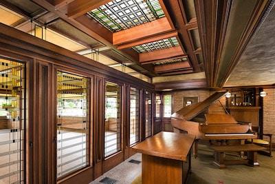 Martin House Art glass verandah doors and skylights. Image by Digati