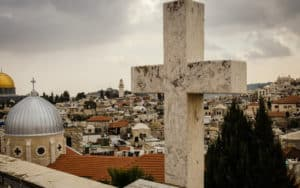 from Mount Scopus in Jerusalem. Photo credit, 9parusnikov. For article on 'Into the Room' Image