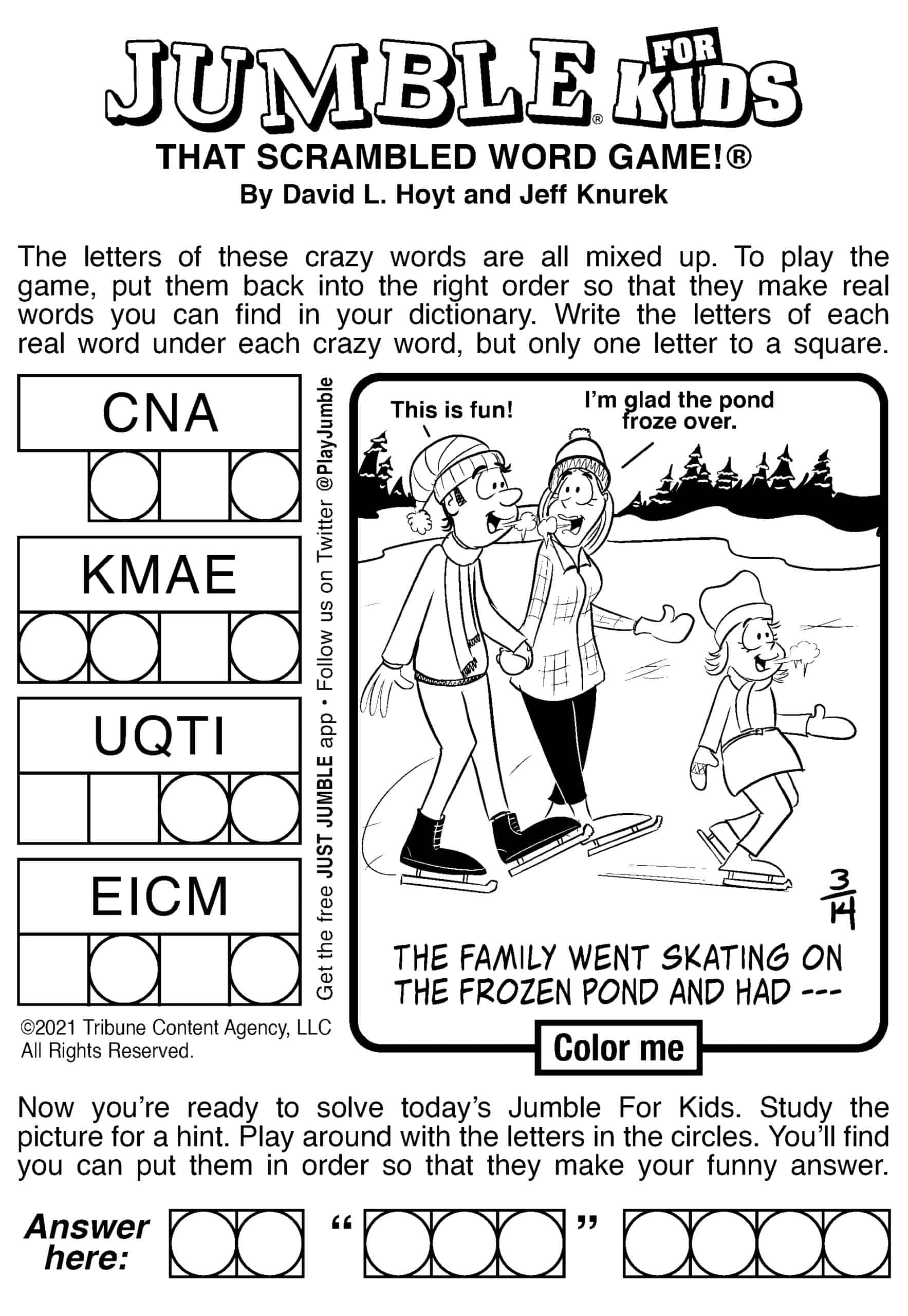 Jumble for Kids, Word Puzzle Mind Exercise