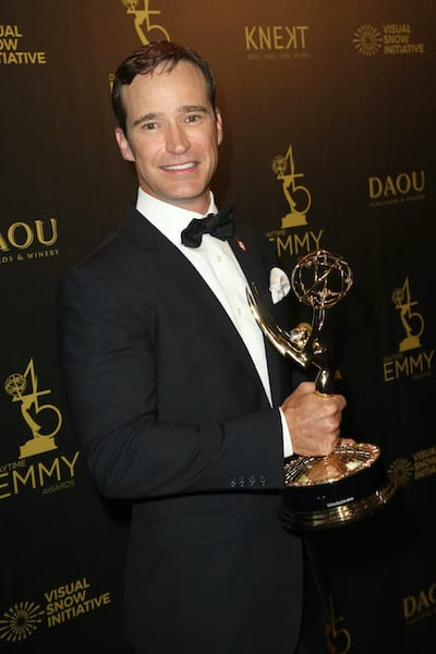 Mike Richards holds the Outstanding Game Show award for 'The Price is Right' at the 45th annual Daytime Emmy Awards at Pasadena Civic Auditorium on April 29, 2018 in Pasadena, Calif. (David Livingston/Getty Images/TNS). Mike Richards fired at Jeopardy
