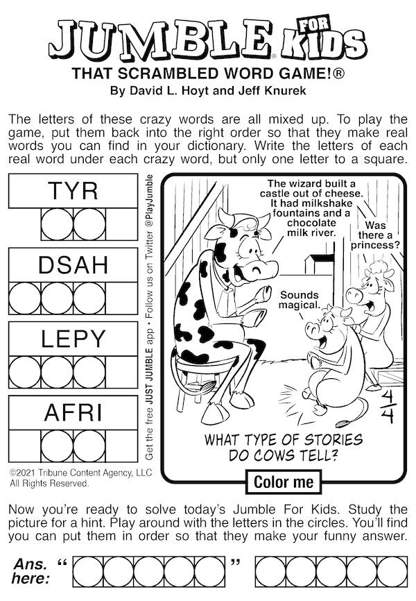 Jumble puzzle for kids: Jumble word puzzle for building brains