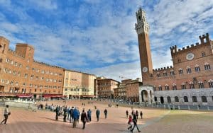 Siena's main square and gathering place, Il Campo. For article on Siena, Italy's best medieval experience Image