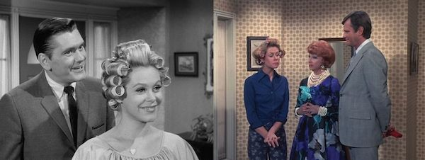 8 Both Dick York (left) and Dick Sargent (right) truthfully comment, using the same dialogue, how unattractive women look with hardware on their heads.