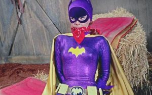 Doused with fear gas, Shame takes Batgirl hostage in 'The Great Escape' (1968). For article, TV's Batgirl Was Emasculated and Humiliated Image