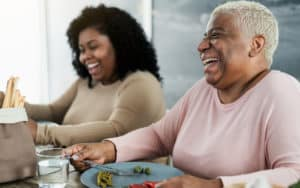 Senior woman practicing healthy aging Image