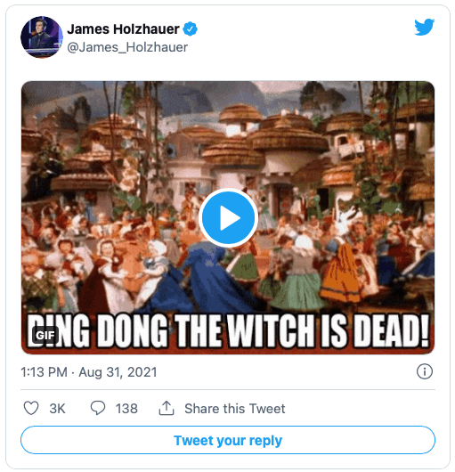 James Holzhauer tweet after learning that Mike Richards fired as Jeopardy host