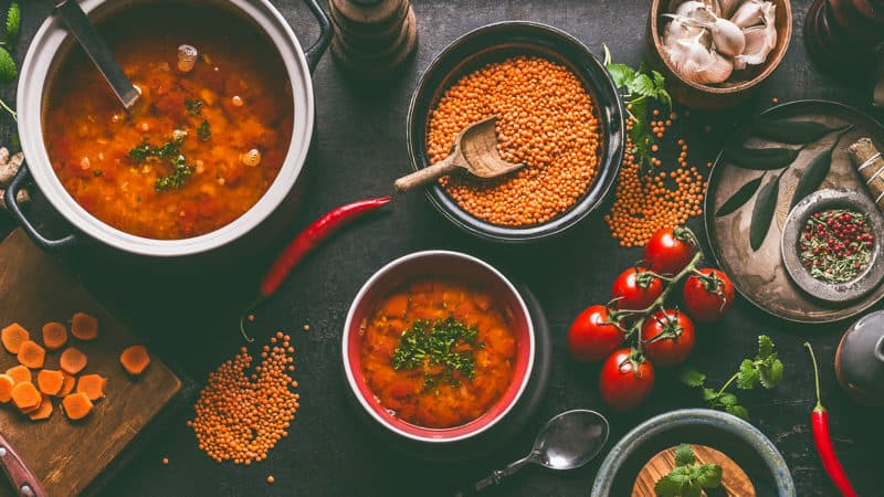 Sources of protein like beans and lentils Image